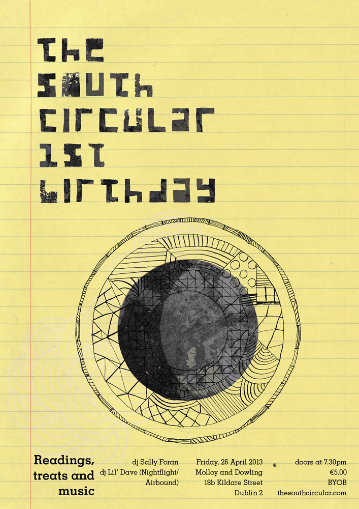 The South Circular 1st Birthday Party Poster